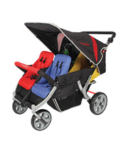 Familidoo 4 Seat Stroller with Auto Brake