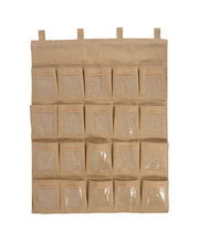 Wall Pocket Hessian - Small 20 Pockets