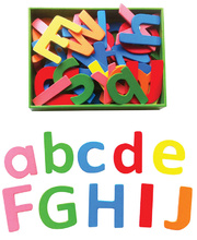 Wooden Alphabet Magnets - 52pcs