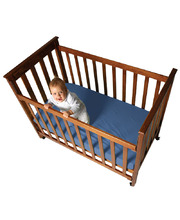 Fitted Bottom Cot Sheet (Nombre Cot Size) - Blue