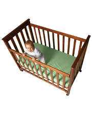 Fitted Bottom Cot Sheet (Nombre Cot Size) - Lime Green