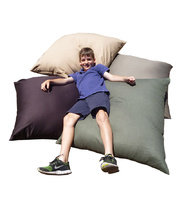 Jumbo Cotton Canvas Cushion Covers Only 90 x 90cm - Chocolate