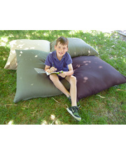 Indoor Jumbo Cotton Canvas Cushion 90 x 90cm - Chocolate