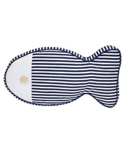 *SPECIAL: Indoor Linen & Cotton Cushion - Fish Narrow Stripe
