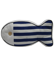 *SPECIAL: Indoor Linen & Cotton Cushion - Fish Wide Stripe