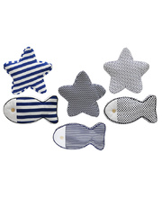 *SPECIAL: Indoor Linen & Cotton Cushion - Fish & Star Set of 6