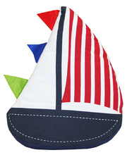 *SPECIAL: Indoor Linen & Cotton Cushion - Sail Boat