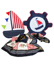 *SPECIAL: Nautical Cushions & Scarf - Set of 3