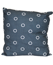 Indoor Linen & Cotton Cushion - Square Navy Blue