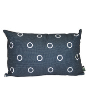 Indoor Linen & Cotton Cushion - Rectangle Navy Blue
