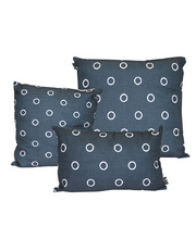 Indoor Linen & Cotton Cushion - Navy Blue Set of 3