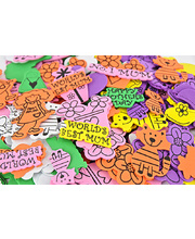 >Foam Shapes - Mothers Day Assorted 160pk