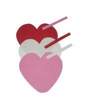 *SPECIAL: Big Felt Hearts 15cm - 10pk Assorted Colours