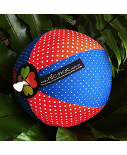 Balloon Ball Cover - Red Poppy & Blueberry Spots