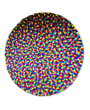 Felt Ball Rug - Rainbow Colours