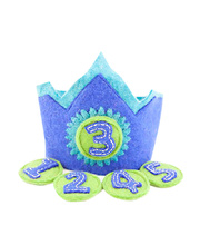 *SPECIAL: Felt Birthday Crown - Princess Lavender