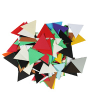 Pre Cut Recycled Paper 100g - Triangles 60mm