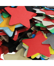 Pre Cut Recycled Paper 100g - Stars Assorted Sizes 40 to 55mm