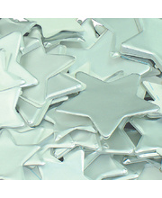 Pre Cut Stars - Silver Assorted Sizes 60g