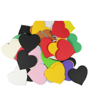 Pre Cut Recycled Paper 100g - Hearts 70mm