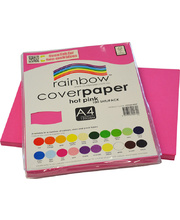 Rainbow Cover Paper 120gsm A4 100pk - Hot Pink
