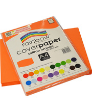 Rainbow Cover Paper 120gsm A4 100pk - Saffron Orange
