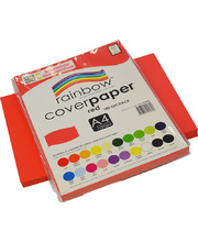 Rainbow Cover Paper 125gsm A4 100pk - Red