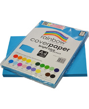 Rainbow Cover Paper 120gsm A4 100pk - Bright Blue