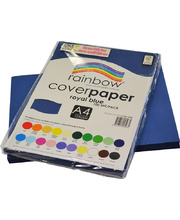 Rainbow Cover Paper 120gsm A4 100pk - Royal Blue