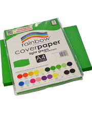 Rainbow Cover Paper 120gsm A4 100pk - Light Green