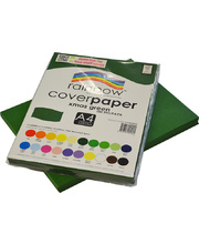 Rainbow Cover Paper 125gsm A4 100pk - Christmas Green
