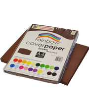 Rainbow Cover Paper 120gsm A4 100pk - Brown