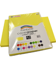 Rainbow Cover Paper 125gsm A3 100pk - Sunlight Yellow