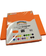 Rainbow Cover Paper 125gsm A3 100pk - Saffron Orange