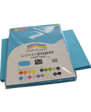 Rainbow Cover Paper 125gsm A3 100pk - Bright Blue