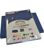 Rainbow Cover Paper 125gsm A3 100pk - Royal Blue