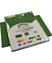 Rainbow Cover Paper 125gsm A3 100pk - Christmas Green