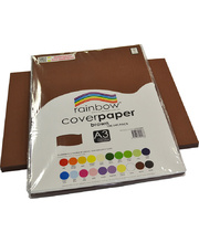 Rainbow Cover Paper 125gsm A3 100pk - Brown