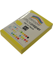 Rainbow Office/Copy Solid Colour Paper - 80gsm A4 Ream Yellow