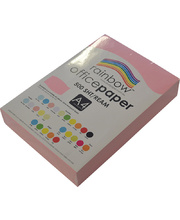 Rainbow Office/Copy Pastel Colour Paper - 80gsm A4 Ream Pink
