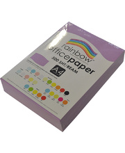 Rainbow Office/Copy Pastel Colour Paper - 80gsm A4 Ream Lavender
