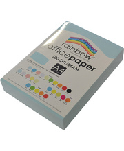 Rainbow Office/Copy Pastel Colour Paper - 80gsm A4 Ream Sky Blue