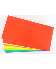 Coloured Cardboard Flash Cards 290gsm - 203 x 102mm 100pk