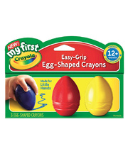 Crayola My First Egg Shaped Crayons - 3pk