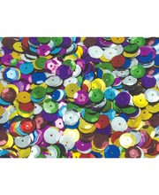 Sequin Cups 10mm Assorted - 50g