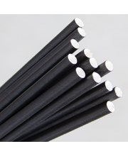 Paper Straws 200mm - Black 250pk