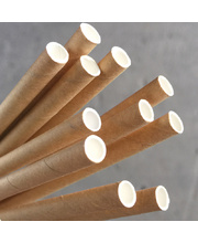 Paper Straws 200mm - Kraft Brown 250pk