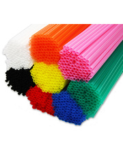 Bellbird Craft Straws 21cm - Assorted Colours 1000pk