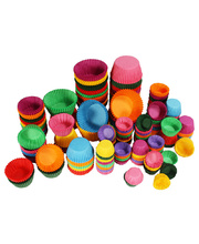 Paper Patty Pans - Assorted Colours & Size 3500pk