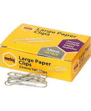 Marbig Paper Clips - Large 33mm 100pk